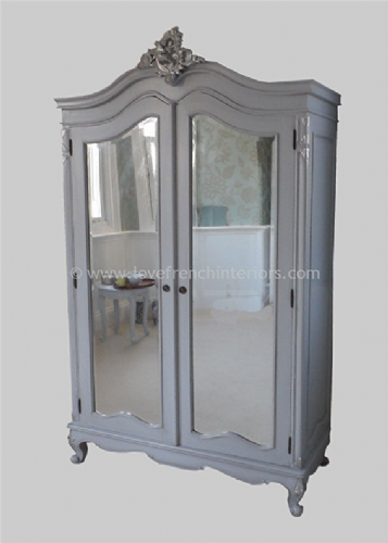 Louis Bespoke Mirrored French Armoire Wardrobe